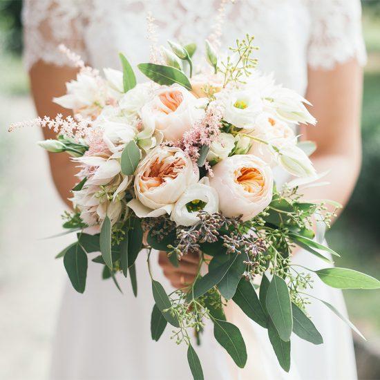 garden bouquet. Desire Bridal Peach \u0026 Cream Bouquet Garden