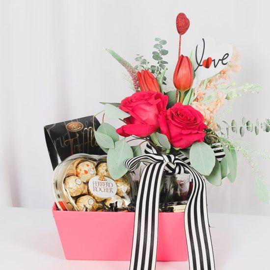 Valentine Flowers Chocolate