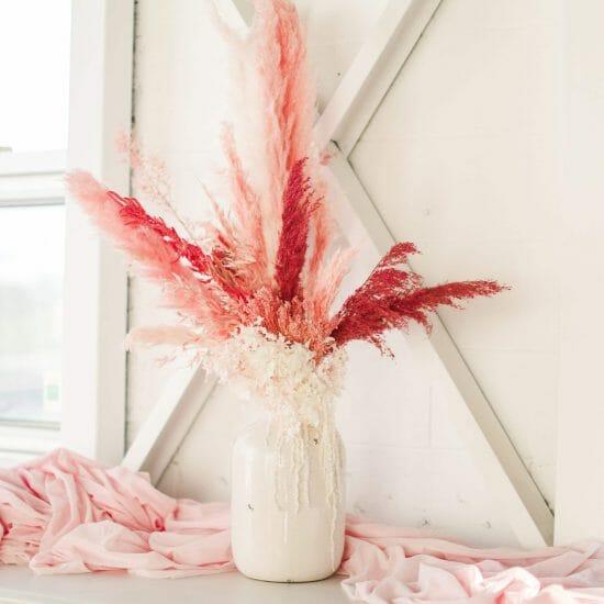 Pink Dried Floral Arrangement